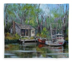 Bayou Shrimper Fleece Blanket