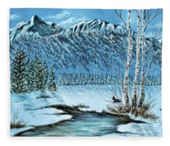 Bc Mountains Fleece Blanket