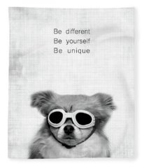 Be Different Be Yoursef Be Unique Fleece Blanket