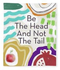 Be The Head- Art By Linda Woods Fleece Blanket