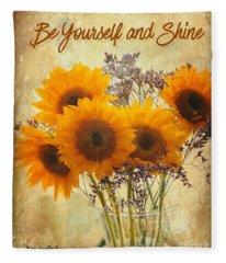 Be Yourself And Shine Fleece Blanket