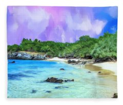 Beach 69 Big Island Fleece Blanket