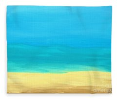Beach Abstract Fleece Blanket