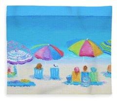 Beach Art - A Golden Day Fleece Blanket