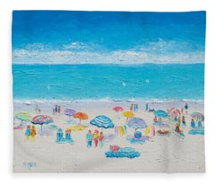 Beach Art - Fun In The Sun Fleece Blanket