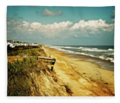 Beach At Corolla Fleece Blanket