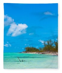 Beach At North Bimini Fleece Blanket