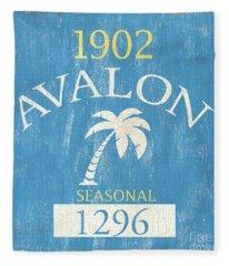 Beach Badge Avalon Fleece Blanket