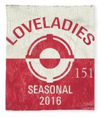 Beach Badge Loveladies Fleece Blanket