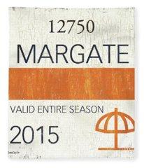 Beach Badge Margate Fleece Blanket