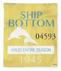 Beach Badge Ship Bottom Fleece Blanket