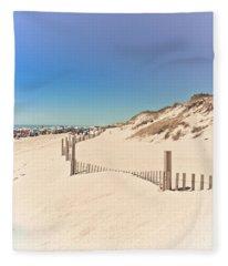 Beach Beauty Fleece Blanket