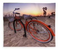 Beach Bike Fleece Blanket