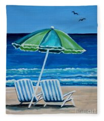 Beach Chair Bliss Fleece Blanket