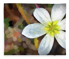 Beach Flower Fleece Blanket