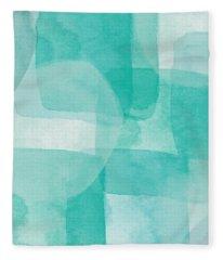 Beach Glass- Abstract Art By Linda Woods Fleece Blanket