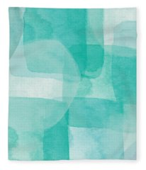 Beach Glass- Abstract Art By Linda Woods Fleece Blanket