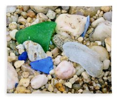 Beach Glass Fleece Blanket