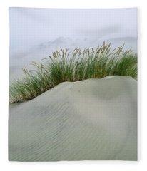 Beach Grass And Dunes Fleece Blanket