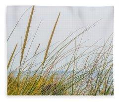 Beach Grass Fleece Blanket