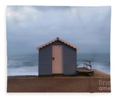 Beach Hut Fleece Blanket
