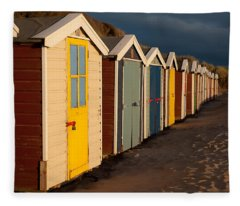 Beach Huts II Fleece Blanket