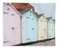 Beach Huts Vi Fleece Blanket