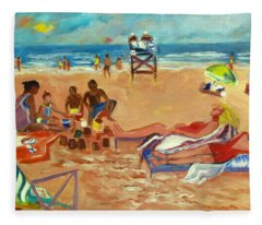 Beach In August Fleece Blanket