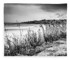 Beach In Ogunquit Fleece Blanket