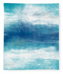 Beach Mood 2- Abstract Art By Linda Woods Fleece Blanket