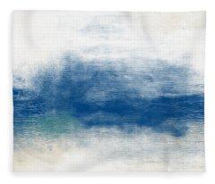 Beach Mood Landscape- Art By Linda Woods Fleece Blanket