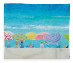 Beach Painting - Color Of Summer Fleece Blanket