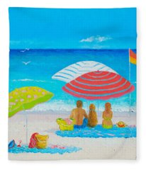 Beach Painting - Endless Summer Days Fleece Blanket