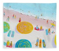 Beach Painting - The Simple Life Fleece Blanket