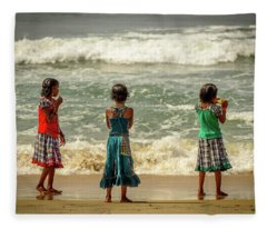 Beach Play Fleece Blanket