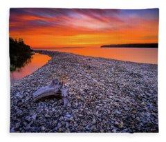 Beach Road Fleece Blanket