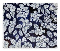 Beach Rose Pattern Fleece Blanket