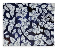 Beach Rose Pattern Fleece Blanket