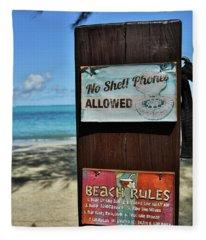 Beach Rules Fleece Blanket