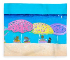 Beach Sands Perfect Tans Fleece Blanket