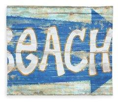 Beach Sign Fleece Blanket