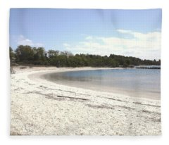 Beach Solomons Island Fleece Blanket