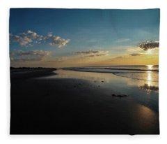Beach Sunrise At Jekyll Island  Fleece Blanket