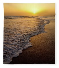 Beach Sunset Fleece Blanket