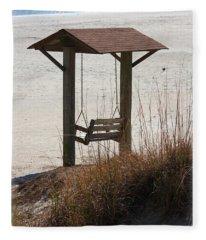 Beach Swing Fleece Blanket