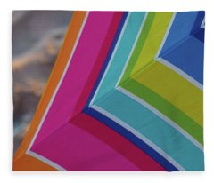 Beach Umbrella.  Fleece Blanket