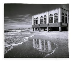 Beach View Of Oc Music Pier Fleece Blanket