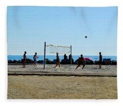 Beach Volleyball Marseille Fleece Blanket