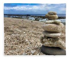 Beach Zen Fleece Blanket