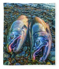 Beached Coho Fleece Blanket